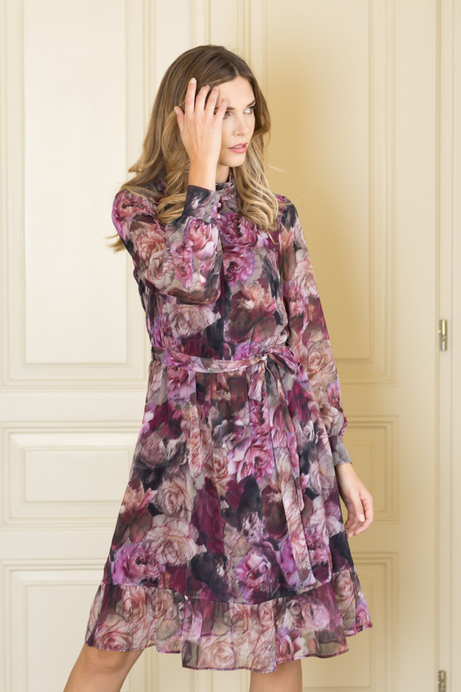 Sukienka w kwiaty ABELIA