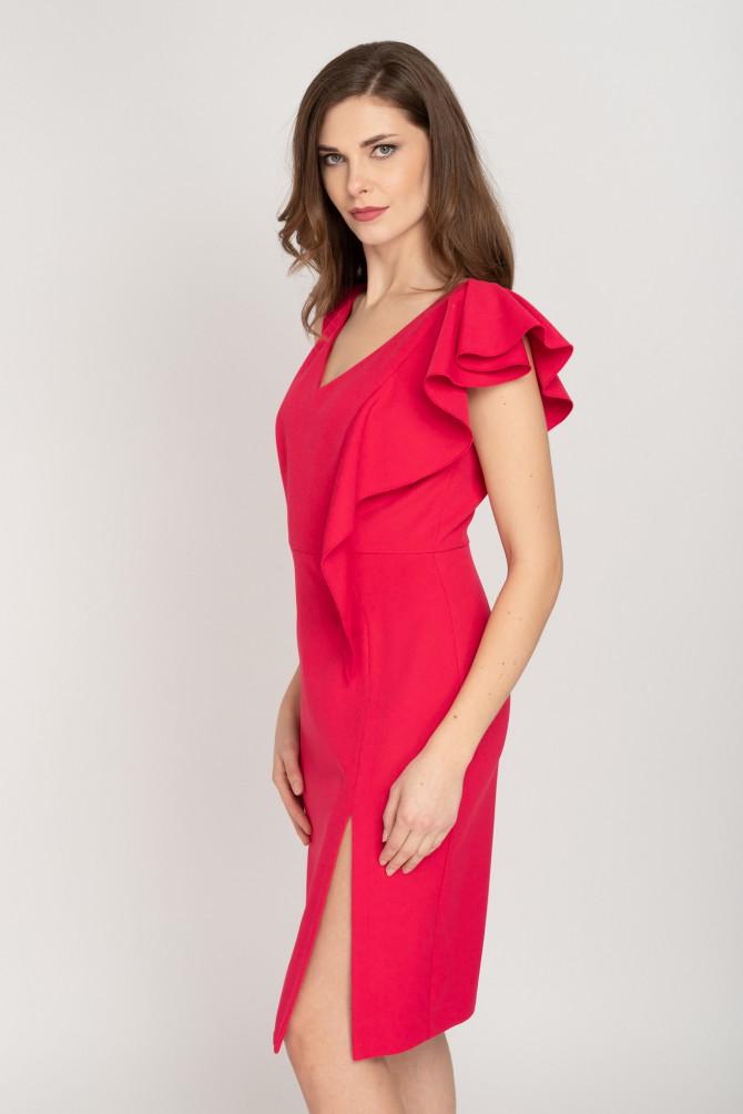 Sukienka z falbaną BETULLA